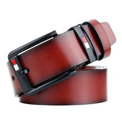 Men's fashion pure cowhide belt Special promotion Until we're sold out 05 brown one size (125cm)