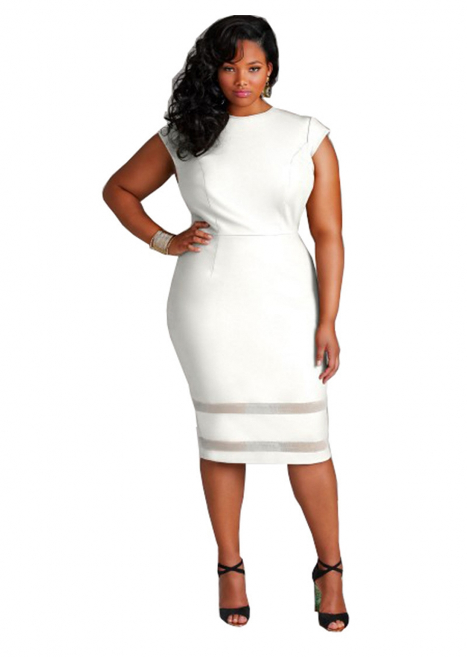 c5f3f72d072e Plus Size Sexy Club Tight Midi Bodycon Dress Women Clothes Sleeveless  Elegant Party Dresses Casual 5XL White: Product No: 7641729. Item  specifics: Brand: