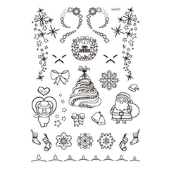 1pcs Party Jewellery Decoration Luminous Temporary Tattoo Stickers Christmas Carnival New Year Decor 2#