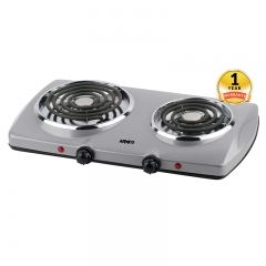 ARMCO AEC-C20(S) - 2 Burner Spiral Electric Hot Plate silver 2 Burner