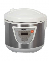 ARMCO ARC-501XL 2 in 1 Rice Cooker and Fryer with Ceramic coating white & silver