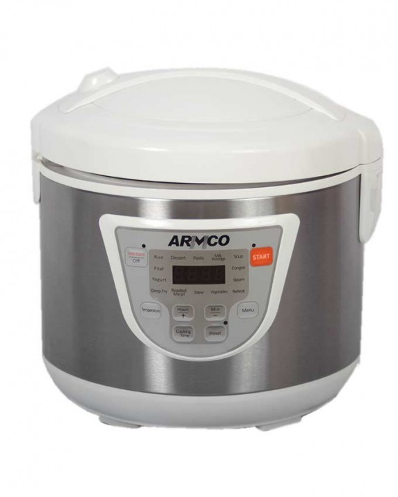 ARMCO ARC-501XL 2-in-1 Rice Cooker & Fryer - 4L - white & silver