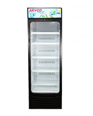 ARMCO Glass Door Showcase Refrigerator (ASC-350) Black (WxDxH=> 600x680x187