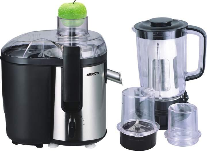 ARMCO  5-in-1 Juicer, Blender, Grinder Mill, Mincer, Filter, Soya milk maker,  AJB-900(SS), Stainless Steel