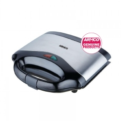 ARMCO AST-G1500 - 2 Slice Sandwich Maker - 750W- Black & Silver As photo