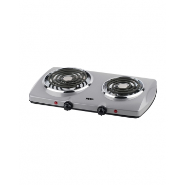 ARMCO 2 Burner Solid Electric Hot Plate- AEC-S20 silver .