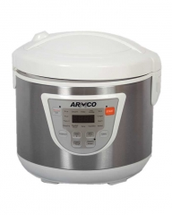 ARMCO ARC-501XL 2 IN 1 RICE COOKER&  FRYER white and silver
