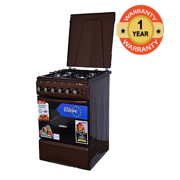 ARMCO GC-F5640PX(BR) - 4Gas - 50X60 - Gas Oven+Grill - Brown