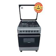 ARMCO GC-F6631QX(SL) - 3 Gas, 1 Electric Cooker - Silver