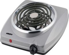 ARMCO AEC-C10(S) 1 Burner Spiral Electric Hot Plate - Grey Silver Grey