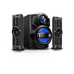 Armco- 2.1 Ch 4000W PMPO SubWoofer Speaker- Bluetooth USB SD FM Radio black 116w ( 80w + 18wx2 r.m.s) AHT-ZX30A