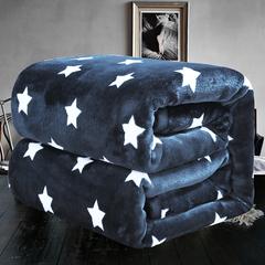 Yi Erman Fleece Blanket, Soft Microfiber Flannel Blanket for All Season blue star 150x200cm