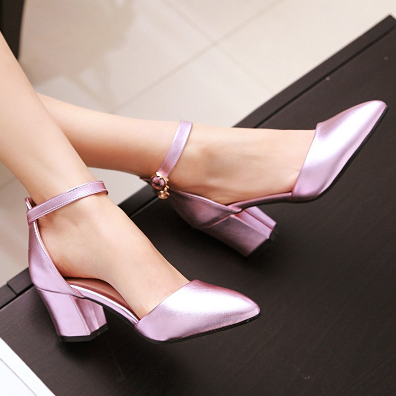 26c021592994 Women Shoes Fashion Block Heel Ankle Strap Closure Bright Colors ComFOR  HHSBLLS pink 39  Product No  4471649. Item specifics  Brand