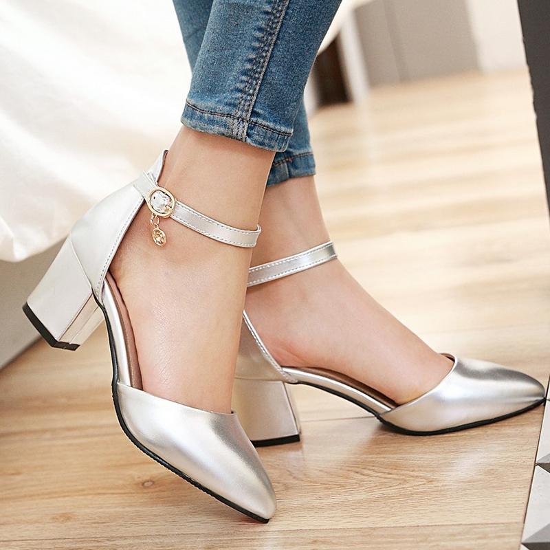 c43020fac1e5 Women Shoes Fashion Block Heel Ankle Strap Closure Bright Colors ComFOR  HHSBLLS silver 38  Product No  4471672. Item specifics  Brand