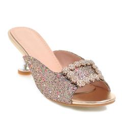 Women Shoes High Heel Slippers Glittered Upper Rhinestone Decor ComFOR SYNFKLP gold 39