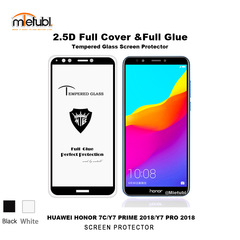 Huawei Y7 Prime (2018)screen protectionfilm full screen coveragetempered glass membraneone bodyglue fullpackageblack 5.5inch