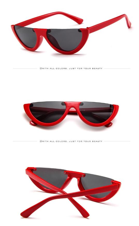 4418679450e New Fashion sunglasses retro Colorful transparent Small Cat Eye Half frame  sunglasses women