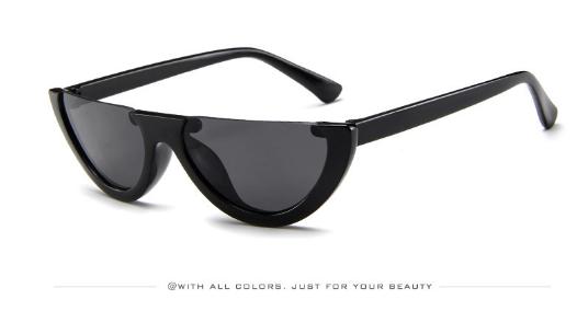 51effdbdda0 Item specifics  Brand  New Fashion sunglasses retro Colorful transparent  Small Cat Eye Half frame sunglasses women