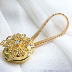 FH Curtain Clips Attraction Appliance Curtain Buckle Magnetic Tieback Creative Diamond Curtain Bind gold 25