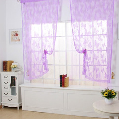 FH Romantic Butterfly&Flower String Curtain For Home Decoration Fringe Door Curtain For Room Divider Purple 100*200cm A Panel