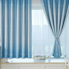 FH Comfortable Cloud Pattern Window Shade Curtian Blackout Curtain For Livingroom Bedroom Child Room Blue 100*200cm A Panel