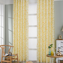 FH Pure And Fresh Pastoraslim Style Blackout Curtain And Yarn Tulle Curtain For Livingroom Bedroom Yellow 100*270cm A Panel