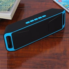 Bluetooth Wireless Speaker Portable Heavy Bass w/FM For Smart Phone&Tablets Silver gray 45*70*384mm