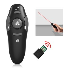 Wireless Presenter Laser Pointers Pen 2.4G RF PPT Presentation Remote Control Red Light USB Flip Pen