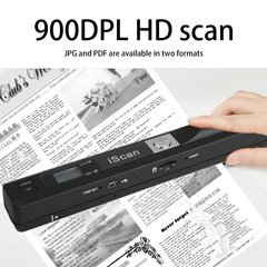 Portable Handheld Mobile Document Scanner Pen Style 900DPI USB 2.0 LCD Display