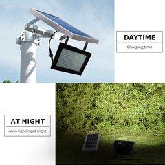 150LED Solar Powered Spotlight Radar Induction IP65 Waterproof Outdoor Lamp pure white 6V*3W