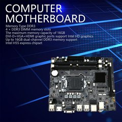 H55 PC LGA1156 Computer Desktop Motherboard DDR3 Doppel Motherboard mit HDMI HD Interface black