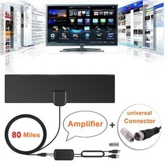 Indoor Digital HD TV Antenna with Signal Amplifier Booster 80 Mile Range 4K HD VHF Freeview Antenna