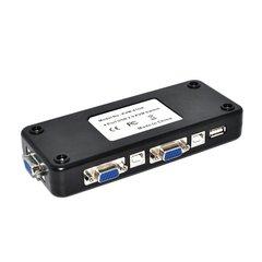 4 Port Hub USB 2.0 KVM VGA/SVGA Switch Box Adapter Connects Printer Intelligence Keyboard Mouse