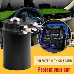 Cylinder aluminum alloy engine oil capture tank water tank modified car accessories with filtration