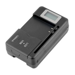 Universal Mobile Battery Charger LCD Indicator Screen for Phones With USB-Port