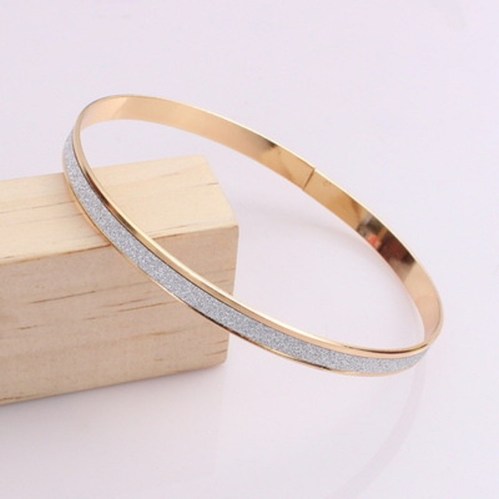 Fashion Gold Rhinestone Bracelet Women Accessories Jewellery Diamond Wristband Beauty As picture Diameter 6.8CM