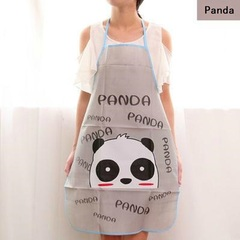 Reusable Kitchen Apron For Cooking Potable Fashion Cute Adorable Home Living Panda 70cm*50cm