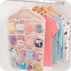 16Pockets Wardrobe Clothing Hanger Underwear Socks Storage Bag Foldable Closet Hook Home Living random