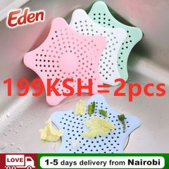 2PCS/SET Silicone Kitchen Sink Filter Sewer Drain Hair Colanders Strainer Gound Leakage Bathroom 2pcs/set random 15.5CM*13CM