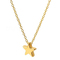 FH Brand Lady Alloy Necklace Star Pendant Modern Fashion Collarbone Chain Leisure Simple Accessories gold 50cm