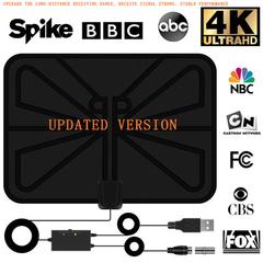 FH TV Antenna ATSC DVB-T DVB-T2 HDTV Indoor High Definition Antenna black 335*1*235mm