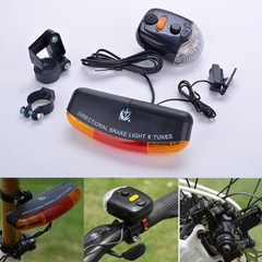 FH Bicycle Plastic Battery Bicycle Taillight Electric Horn Brake Light Multi-Function Turn Signal red