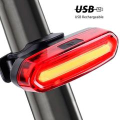 FH Bike Plastic Taillight Long Oval USB Charging Light Running Light Cycling Helmet Light Equipment red