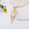 Harry Potter Death Hallows Triangle Necklace Jewwllery gold normal