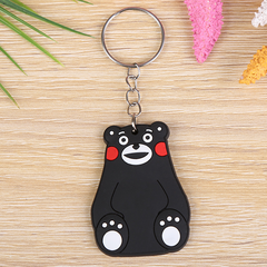 04--hot cartoon soft rubber keychain Creative small gift PVC car key ring one size