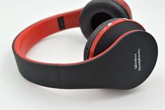 Bluetooth Headset Folding Stereo Wireless Wireless Headset Bluetooth Headset black red