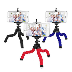 Smartphone Stand Holder Mount Phone Holder Phone Stand CameraTripod And Mobile Phone Clip Octopus black 25cm*6cm*3.5cm