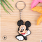 Mickey Mouse hot cartoon soft rubber keychain Creative small gift PVC car key ring