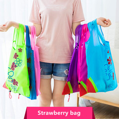 Hot Creative environmental storage bag Handbag Strawberry Foldable Shopping Bags bag 1