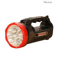 LED Outdoor Camping Hiking Super Bright Charging Portable Light Flashlight 1000mAH hot sale black and red 16cm 5W